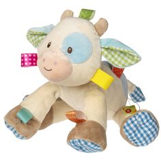 """TAGGIES Casey Cow Soft Toy - 10"""""""
