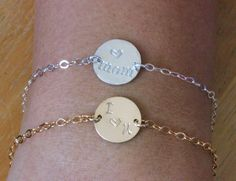 Excited to share the latest addition to my #etsy shop: Mother daughter gift - Mother and Daughter Bracelet - Initial Bracelet - Mother Daughter Jewelry - Love Mom Bracelet - Personalized Bracelet