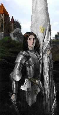 Juana de Arco (En francés Jeanne d'Arc) (6 de enero de 1412 – 30 de mayo de 1431),1 también conocida como la Doncella de Orléans (o, en francés, la Pucelle), es una heroína, militar y santa francesa. Su  festividad se conmemora el día del aniversario de su muerte, como es tradición en la Iglesia católica, el 30 de mayo.