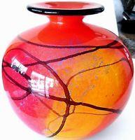 """ FANTASIA COLLECTION "" LARGE VASE ART GLASS IOAN NEMTOI - SIGNED !"