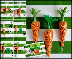 """DIY // easter """"carrot"""" snacks with Annie's Homegrown Horse Birthday Parties, 2nd Birthday Party Themes, Farm Animal Birthday, Mickey Birthday, Farm Birthday, Barnyard Party, Farm Party, Masha Et Mishka, Easter Crafts For Kids"""