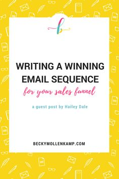 Learn how to write emails for a sales funnel, including all the tips to create an engaging email sequence from freebie to offer.