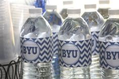 BYU water bottle lables