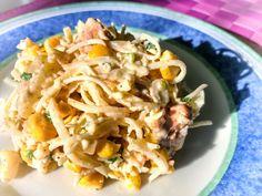 Sałatka z kurczakiem, ananasem i selerem konserwowym | KulinarnyBlog.pl Coleslaw, Cabbage, Food And Drink, Impreza, Vegetables, Ethnic Recipes, Pineapple, Coleslaw Salad, Cabbages