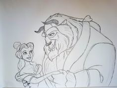 Easy how to draw Beauty and the Beast 1991 Cute Doodle Art, Cute Doodles, Doodle Ideas, Beauty And The Beast Drawing, Belle Beauty And The Beast, Disney Drawings Sketches, Drawing Sketches, Sketching, Belle Drawing