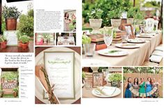 JL DESIGNS: a garden party bridal shower with blueberries, herbs + books