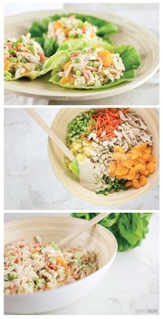 Asian Chicken Salad Lettuce Wraps- this is such an easy and delicious recipe!