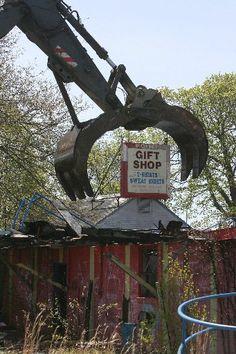 Demolition of Rocky Point, Rhode Island