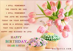 facebook, happy birthday to u my dear sister