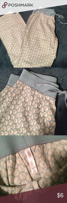 Patterned PJ Bottoms Blue/green & cream pj pants. Size XS. From Target. EUC. Gilligan & O'Malley Pants
