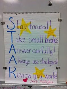 From a Texas teacher, but still could be really cute for our students as we continue test taking strategies