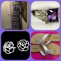 Purchase separate or bundle this outfit Dress-sandles-ring-earrings. Each piece posted and described in closet separate or add too a bundle and get discount Other