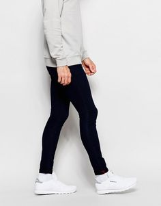 Shop Pull&Bear Super Skinny Fit Jean In Indigo at ASOS. How To Look Skinnier, Super Skinny Jeans, Indigo, Fashion Online, Black Jeans, Tights, Pants, How To Wear, Shopping