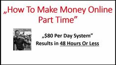 How To Make Money Online Part Time - http://meetjacobwedzik.com/withoutawebsite Here's A Totally New And Dummy-Proof Method That Let's You Bank $80 Per Day In 43 Minutes Per Day… Without A Website!