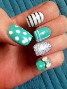 3-D bow nail art