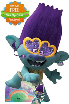 Cool lifesize cardboard cutout of Branch singing from Trolls World Tour. Great for bedroom decor and kids parties! Free UK delivery & Worldwide Shipping Queen Poppy and Branch make a surprising discovery — ther Poppy And Branch, Troll Party, Christmas Paintings, 4th Birthday Parties, Animated Cartoons, Best Part Of Me, Birthday Decorations, Cool Kids, Free Uk