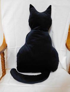 Cat Cushion, Cat Harness, Catnip Toys, Black Velvet, Soft Fabrics, Larger, Cushions, Silhouette, Sewing