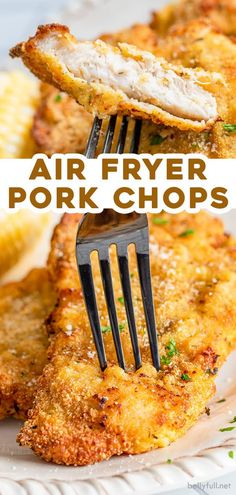 {Crispy Breaded} Air Fryer Pork Chops