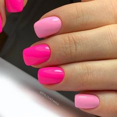 Want to know how to do gel nails at home? Learn the fundamentals with our DIY tutorial that will guide you step by step to professional salon quality nails. Nailart, Cute Acrylic Nails, Pink Shellac Nails, Pink Toe Nails, Hot Pink Nails, Sns Nails, Chevron Nails, Toenails, Jamberry Nails