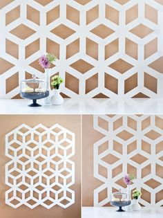 Beautiful Modern Geometric Backdrop created by Ambrosia Creative for Project Wedding.  I can see applying this concept to various different designs, lovely!