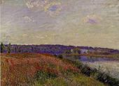 The Fields and Hills of Veneux-Nadon - Alfred Sisley - www.alfredsisley.org