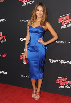 Our Celebrity Style Inspiration - Jessica Alba during her latest movie premiere Sin City: A Dame to Kill For (In case you didn't know, the movie hits US theaters on Friday (August 22)!)