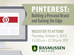 Webinar: Build Your Personal Brand through Pinterest #webinar #branding #careeradvice #RasSpirit