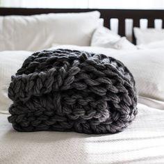 Chunky Knit werfen Decke Muster Arm strickend von flaxandtwine