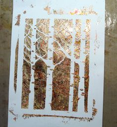 tutorial gilding flakes using stencil!
