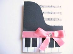 Paper crafts- DIY Piano card for a music teacher