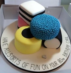 There is no recipe attached to this cake, I pinned because I like the fact that it's an All Sorts design :)