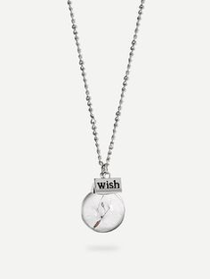 Dandelion Glass Globe Pendant Necklace