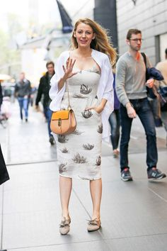 Out in New York City in Sarah Flint shoes. See all of Blake Lively's best looks.