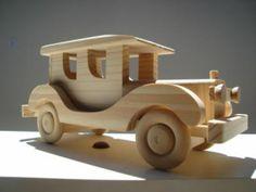 Carrinho de madeira.