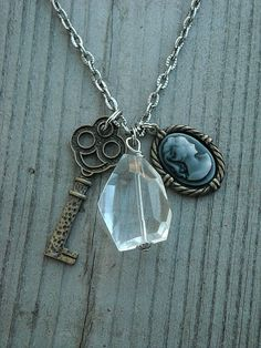 Neo Victorian Steampunk Charm Necklace by InkandRoses13