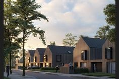 Revealed: finalists' schemes in Taylor Wimpey 'house of the future' contest Future House, Habitat Groupé, Cluster House, Modern Townhouse, Suburban House, Types Of Houses, Modern House Design, Exterior Design, Architecture Design