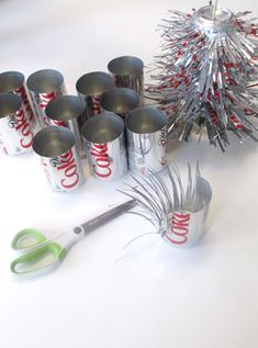 53 Stunning And Unique Recycled Christmas Tree Decoration Ideas. Today, people tend to forget recycling, one way of saving up and prevent bigger expenses. It's the people's human nature to just&nb. Recycled Christmas Tree, Types Of Christmas Trees, Christmas Decorations Sale, Christmas Ornaments, Xmas, Coke Can Crafts, Pop Can Art, Diy Pet, Tin Can Flowers