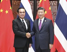 China's Xi and Thailand's Prayut Witness Signing of Bilateral Cooperation  Agreement