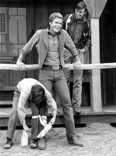 "Kurt Russell, Doug McClure and Randy Boone in ""The Virginian"""