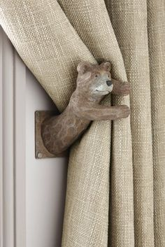 Buy Set of 2 Barnaby Bear Curtain Holdbacks from the Next UK online shop Baby Room Curtains, Soft Furnishings, Cheap Home Decor, Wood Art, Decoration, Home Accessories, Kids Room, Interior Decorating, Sweet Home