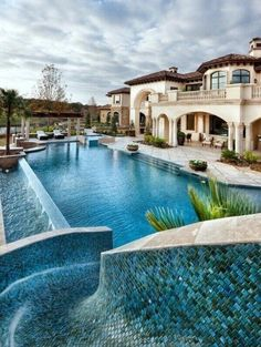 Amazing backyard! Waterslide into the pool!