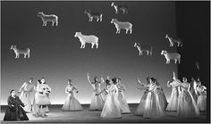 """A scene from Robert Wilson's """"Four Saints in Three Acts,"""" part of the Lincoln Center Festival in 1996."""