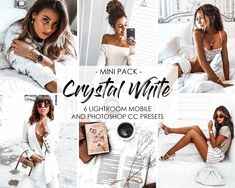 Tasty toning, high contrast and a very white and minimal clean look. Discover our CRYSTAL WHITE Lightroom Presets. These presets are all about creating that lovely bright and airy look with undertones that gives the skin a glowing tan. Photoshop Filters, Photoshop Presets, Vsco Themes, Tan Skin, Lush Green, Photo Editing, Photography Editing, Creative Photography, Photography Ideas