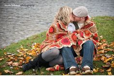 Fall Engagement photo-love the blanket
