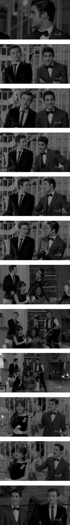 """Extraordinary Merry Christmas (Kurt/Blaine/Klaine Screencaps)"" by darrenfreakingcriss ❤ liked on Polyvore"