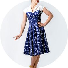 Gorgeous 1950s dress. I want to wear this to the Goodwood Revival.