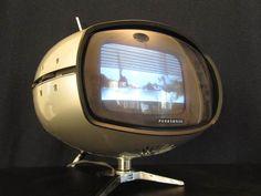 Vintage 1960s Space Age Japanese Eames Era Atomic Panton Old Mini Television | eBay