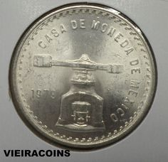 "1979 MEXICO  01 OZ PURE SILVER  - Casa de Moneda de Mexico ""Silver"" -     #5725"