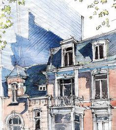 Liège. Quai Godefroid kurth (Flickr)