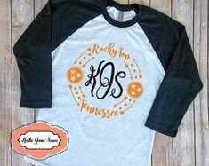 Tristar   Etsy Tennessee Vols Shirts, Tn Vols, Tennessee Girls, Cute Shirt Sayings, Cute Tshirts, Shirts With Sayings, Monogram T Shirts, Vinyl Shirts, Graphic Tee Style